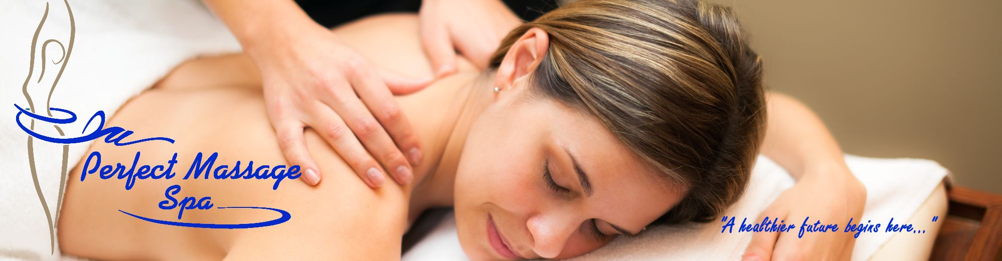 Website Banner - Woman being massaged