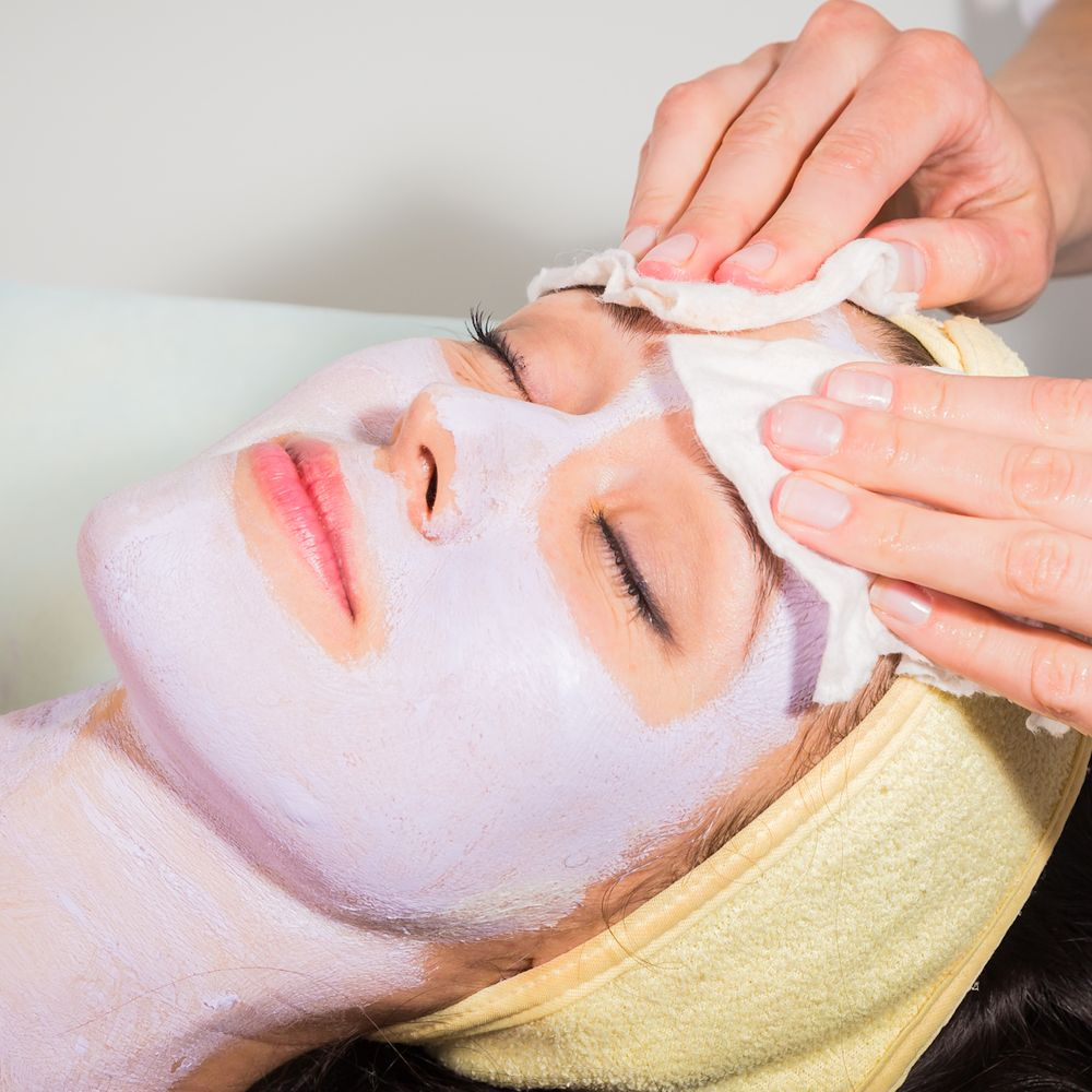 Facial Treatment - WOman getting facial