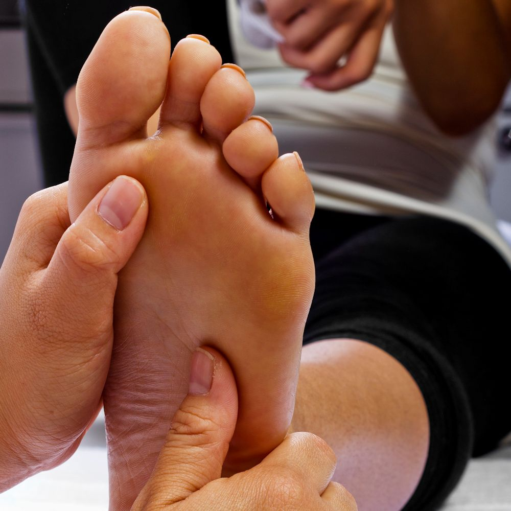Reflexology Link - Foot being Massaged