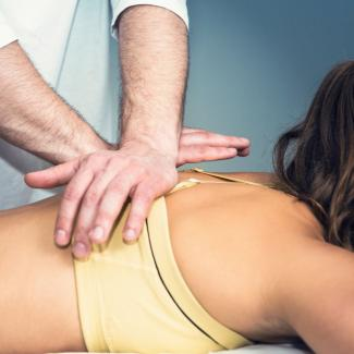 Myofascial Release - Woman being treated