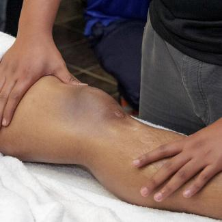 Sports Massage - Leg being treated
